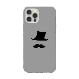 Mr.ダンディー(GY) Soft clear smartphone cases