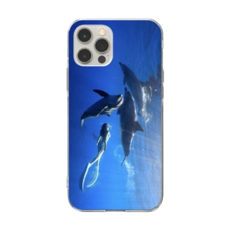 Ayano & Dolphin iPhone ケース Soft clear smartphone cases