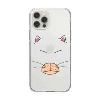 のらねこすとりぃとBIG FACE Soft clear smartphone cases