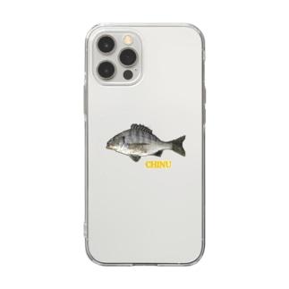チヌくん(クロダイはん) Soft clear smartphone cases