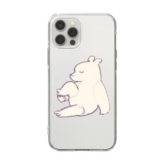 ヨガクマ Soft clear smartphone cases