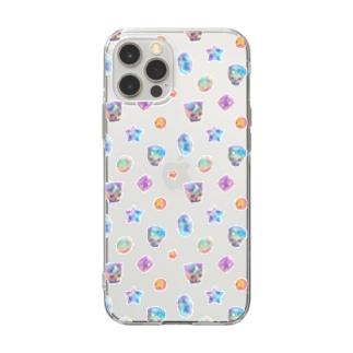 宝石猫◆お月さま★お星さま Soft clear smartphone cases
