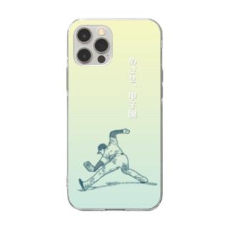 野球アンダースロー Soft Clear Smartphone Case