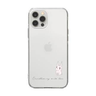 USAGI DESIGN -emi-のうさぎ愛があふれる Soft clear smartphone cases