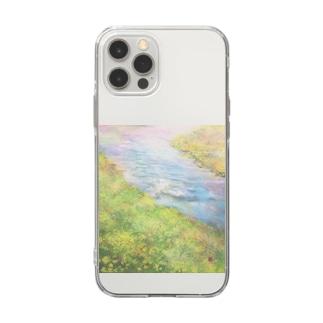 春の川 Soft clear smartphone cases