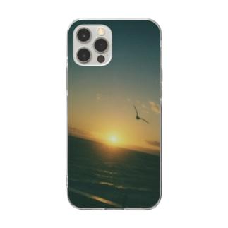 明日へ Soft clear smartphone cases