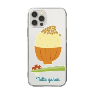 natto gohan Soft clear smartphone cases
