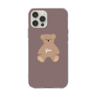 you くまさん Soft clear smartphone cases
