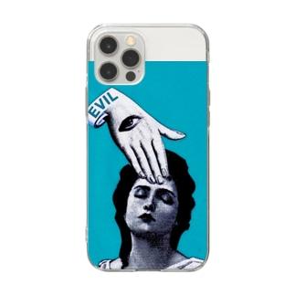 エビル Soft clear smartphone cases