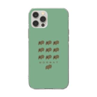 ウォンバットとお尻・ケース Soft clear smartphone cases