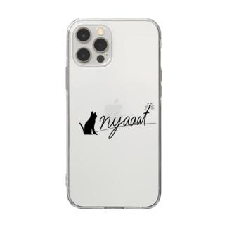 nyaaat公式ネコアイテム Soft Clear Smartphone Case