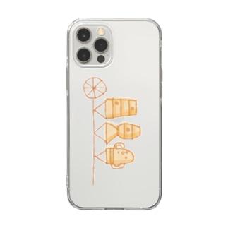 埴輪のぼり Soft clear smartphone cases
