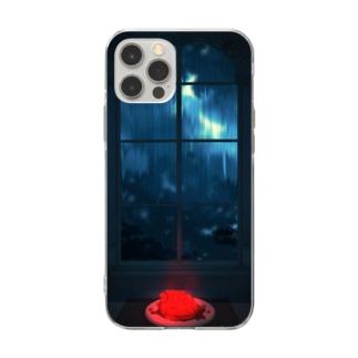 臓物 Soft clear smartphone cases