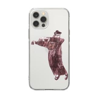 あかいキョンシー Soft clear smartphone cases