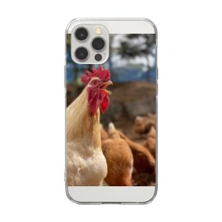 雄叫び。 Soft Clear Smartphone Case
