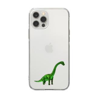 ブラキオサウルス Soft clear smartphone cases