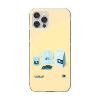COFFEE GIFT -Chocolate- YELLOW Ver. Soft clear smartphone cases