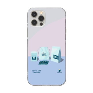COFFEE GIFT -Chocolate- PURPLE Ver. Soft clear smartphone cases
