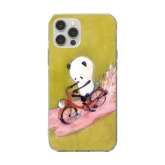 チャリンコぱんだ_スマホケース Soft clear smartphone cases
