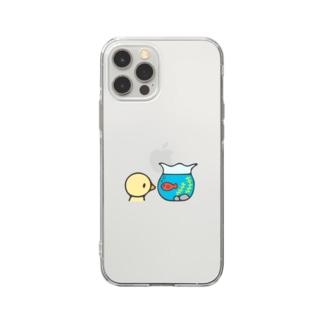きんぎょばち Soft clear smartphone cases