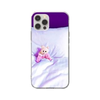 寝ないの Soft clear smartphone cases
