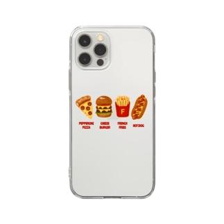 ジャンクフード コンボ Soft clear smartphone cases