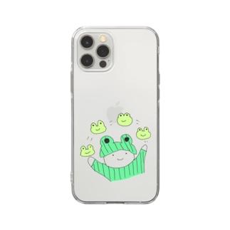 おかあさんとかえる Soft clear smartphone cases