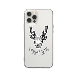 シカイズム☆モノクロ Soft clear smartphone cases