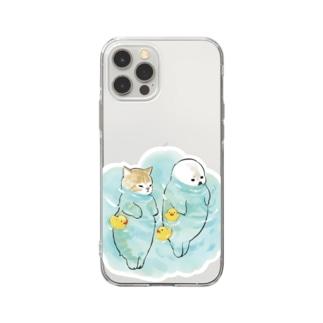 海とにゃんこ Soft clear smartphone cases