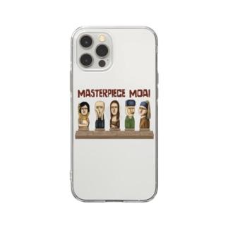 名画のモアイたち Soft clear smartphone cases