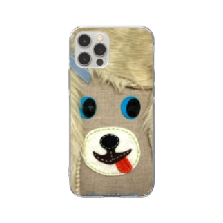 犬バッグ君 Soft clear smartphone cases