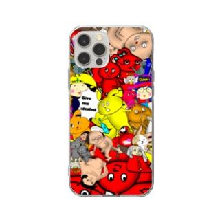 集合💨おでき村 Soft clear smartphone cases