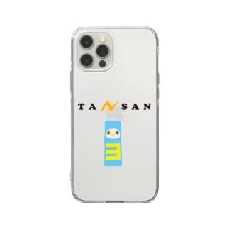 単3でんちちゃん Soft clear smartphone cases