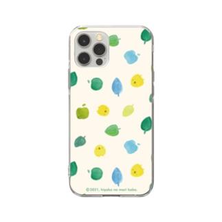 ひよこさんと葉っぱとりんご Soft Clear Smartphone Case
