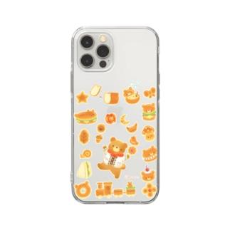 ふわふわパン Soft clear smartphone cases