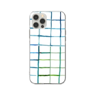 Canako Inoueのタイル white Soft clear smartphone cases