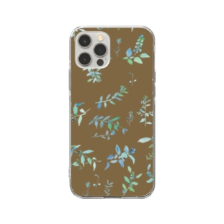 Canako Inoueの春を待つ brown Soft clear smartphone cases