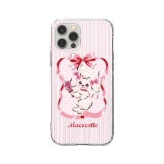おしゃれプードル Soft clear smartphone cases