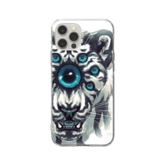 タタナ幻獣館の七眼虎 Soft clear smartphone cases