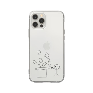 iphone12用ひもまじくん ケース Soft clear smartphone cases