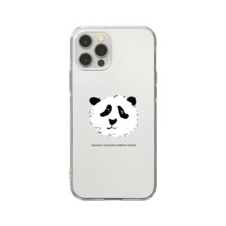 笹を正しく食べるパンダ Soft clear smartphone cases