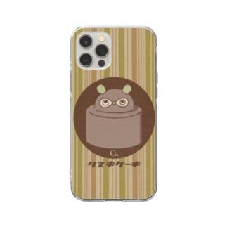 たぬきケーキ Soft clear smartphone cases