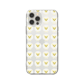 ドット絵ひつじ軍団 Soft clear smartphone cases