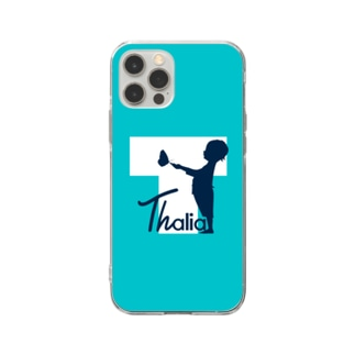 Thalia クリア スマホケース iPhone12Pro (Tiffany Blue) Soft clear smartphone cases