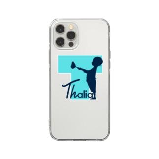 Thalia クリア スマホケース iPhone12Pro (透明背景) Soft clear smartphone cases