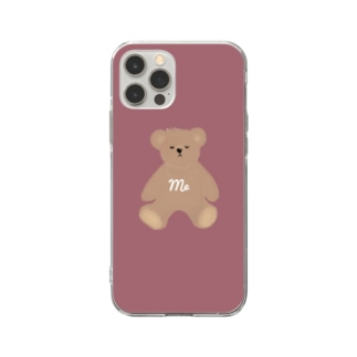 me クマさん Soft clear smartphone cases