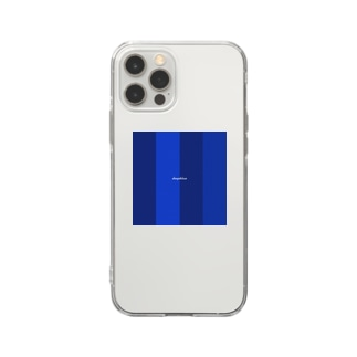 deep blue Soft clear smartphone cases