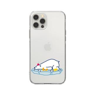 しろくま Soft clear smartphone cases