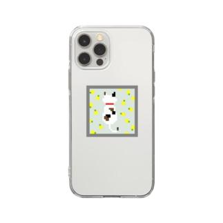ドットネコ。ハル。 Soft clear smartphone cases