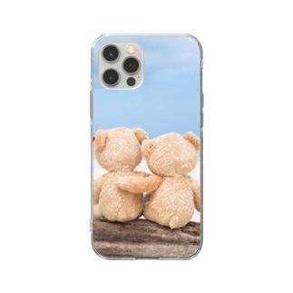 テディーベアーケース Soft clear smartphone cases